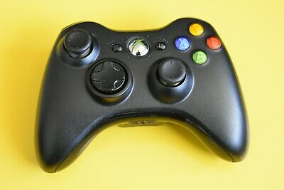 AU37.99 • Buy Genuine Microsoft Xbox 360 Controller - Black - With Battery Pack