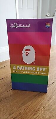 $901.99 • Buy Bearbrick Medicom 2018 A Bathing Ape Bape 25th Anniversary Multi Color 400%