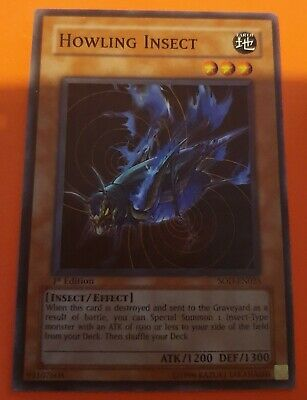 Yugioh Howling Insect 1st Edition Card • 2£