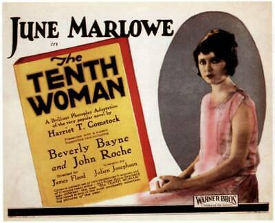 $ CDN7.95 • Buy OLD MOVIE PHOTO The Tenth Woman Poster June Marlowe 1924