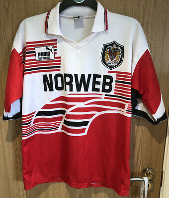 Wigan Warriors NORWEB Puma Rugby Super League Jersey 1994/95 - Large • 34.99£