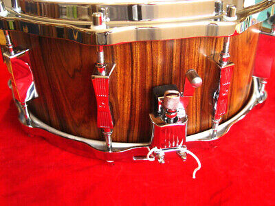 $799 • Buy Sonor Phonic Snare Mint Reissue Rosewood Inside And Out With Heller Hoops