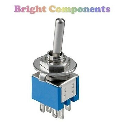 General Purpose DPDT Toggle Switch (Flick Switch) - 1st CLASS POST • 1.59£