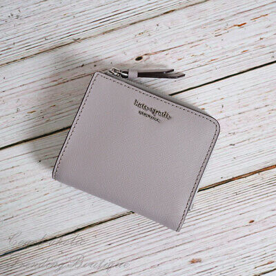 $ CDN52.30 • Buy NWT Kate Spade Cameron Small L-zip Bifold Wallet In Soft Taupe