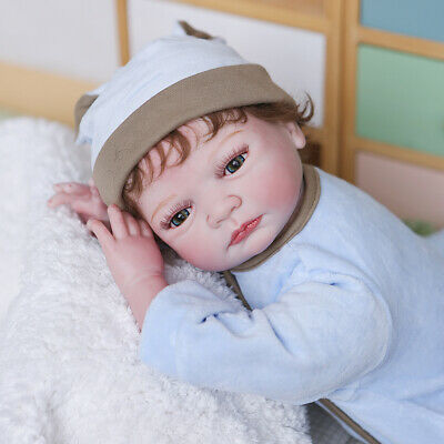 $ CDN72.58 • Buy 22  Reborn Baby Dolls Cloth Body Girl Boy Handmade Silicone Vinyl 55CM Gift