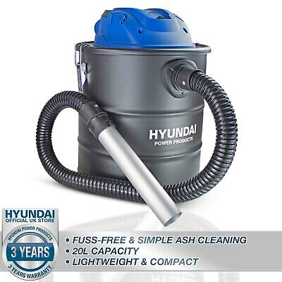 Ash Vacuum Cleaner Hoover 20L Blower 1200W Frieplace Stove Fire BBQ HYUNDAI • 44.99£
