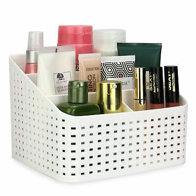 Cosmetic Storage Box 5 Compartments Toiletry Organiser Makeup Basket Pukkr • 9.99£