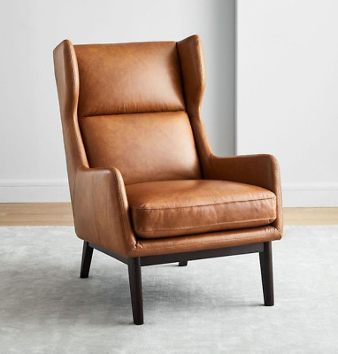 John Lewis & Partners Ryder Leather Armchair, Saddle Nut - RRP: £1,199 • 849£