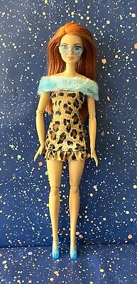 Barbie Doll Clothes Lot: Leopard Print Mini Dress Blue Aviator Sunglasses & Shoe • 7.41£