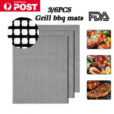 AU12.99 • Buy 3/6x Mintiml Charcoal BBQ Grill Mesh Mat Non-Stick Cooking Barbecue Liner Sheet