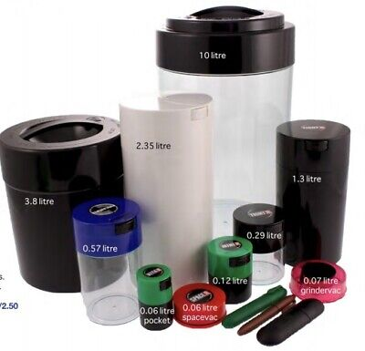 TIGHTVAC/PAC Vacuum Sealed Food Grade Container,smellproof,airtight Herbs/spices • 15.39£