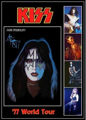 KISS Band Ace Frehley '77 Love Gun Tour Custom Stand-Up Display - Rock Music • 11.88£