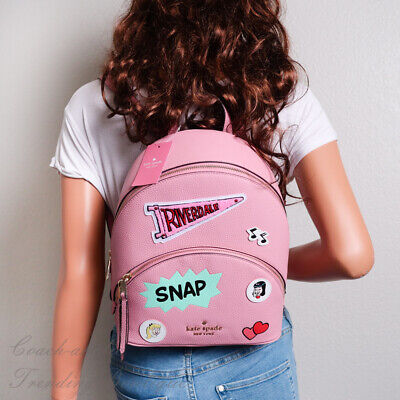 $ CDN227.86 • Buy NWT Kate Spade X Archie Comics Medium Pink Leather Backpack Limited Edition