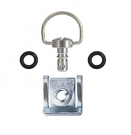 AU34.99 • Buy 8 X Quick Release Dzus Style D Ring 1/4 Turn Fasteners Slip-on Silver Chrome