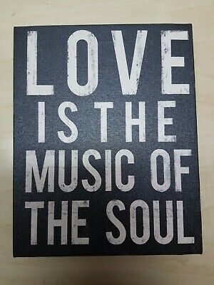 Love Is The Music Of The Soul Musician Gift 9  11   Sign On Canvas • 2.26£