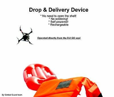 AU155 • Buy DJI Phantom 3 Dropper.  Payload Release For Drone Fishing & Rescue Missions