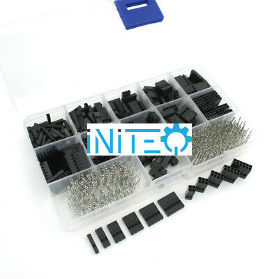 AU18.34 • Buy 620pcs Dupont Connector Assortment 2.54mm 0.1  Cable Header Kit Male + Female US