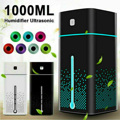 AU23.89 • Buy Ultrasonic Air Humidifier 1000ml USB LED Purifier Aroma Essential Oil Diffuser