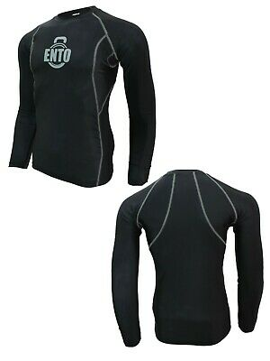 £12.99 • Buy Ento Mens Full Sleeve Compression Running Armour Base Layer Top Gym Sports Shirt