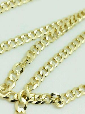 $139.99 • Buy 10K Yellow Gold Cuban Link Chain Necklace 16  18  20  22  24  26  30  Curb Chain