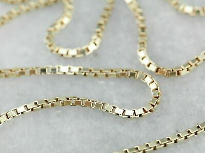 $74.99 • Buy 14K Solid Yellow Gold Box Necklace Real Gold Chain 16  18  20  22  24  26  30