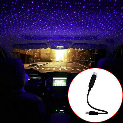 USB Car Accessories Interior Atmosphere Star Sky Lamp Ambient Star Night Light • 6.92£