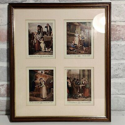 4 Vintage  Cries Of London  F. Wheatly Art Prints In A Wooden Frame • 12.99£