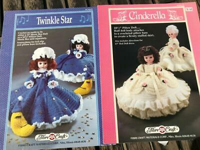 £3 • Buy 2 Fibre Craft Crochet Dolls Clothes 13  Or Pillow Doll Twinkle Star & Cinderella