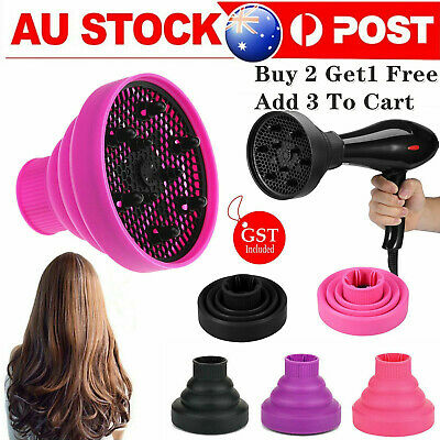AU14.24 • Buy Silicone NEW Hair Dryer Universal Travel Professional Salon Foldable Diffuser AU