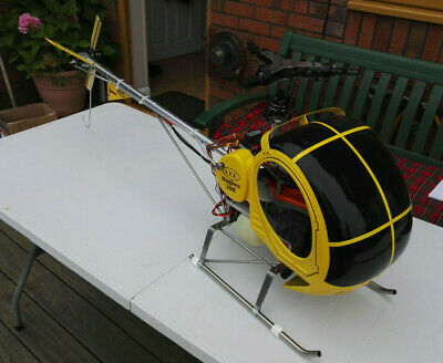 Vintage KKK H300 Petrol RC Helicopter (3 Blade Head) Very Rare MUST SEE • 2,000£