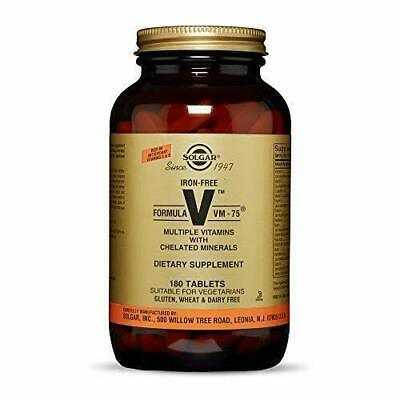 £42.47 • Buy Solgar – (Iron-Free) VM-75, 180 Tablets, Multivitamin With Chelated Minerals