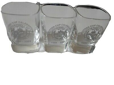 Motherwell Fc Scottish Cup Celebration Shot Glasses X 3 • 15£