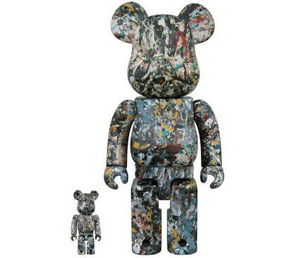 $439 • Buy Medicom Toy Be@rbrick 2018 Jackson Pollock Studio 100 400 Ver 2 Bearbrick Japan