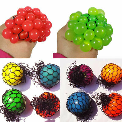 AU8.99 • Buy Novelty  Anti-Stress Squishy Mesh Ball Squeeze Grape In Sensory Fruity Gift
