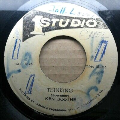Ken Boothe  Thinking  STUDIO ONE Rocksteady Reggae Vinyl 45 Mp3 • 13£