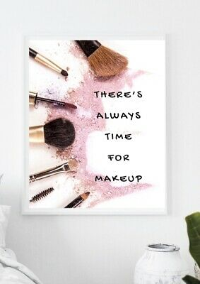 £3.99 • Buy Beauty & Makeup Brushes Quote Print Picture Bedroom Home Decor Wall Art Poster