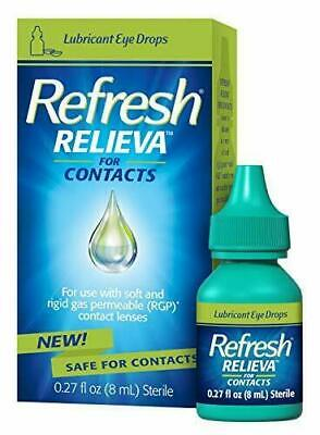 £13.89 • Buy Refresh Relieva For Contacts Lubricant Eye Drops 0.27 Fl. Oz (8ml) Sterile