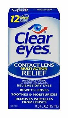 £4.38 • Buy Clear Eyes   Contact Lens Multi-Action Relief Eye Drops   0.5 FL OZ,...