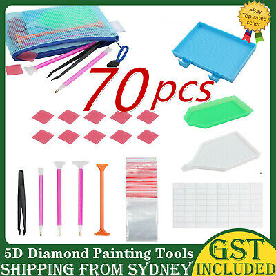 AU10.34 • Buy 70 Piece Diamond Painting Tools Box 5D Diamond Accessories Diy Art Craft Pen Set