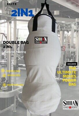 AU72.52 • Buy CANVAS Boxing Punch/Kick Bag 3.5ft 2in1 Grappling Dummy Kickboxing (Sold Un-Fill