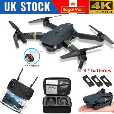 Drone X Pro WIFI FPV 4K HD Camera 3Batteries Foldable Selfie RC Quadcopter UK • 29.88£