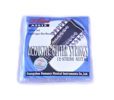 $ CDN8.32 • Buy 12 STRING ACOUSTIC GUITAR STRINGS Stainless Steel Copper Wound 10 - 50 10 - 26