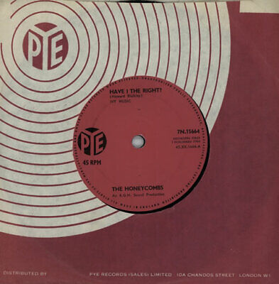 Have I The Right? - Solid Honeycombs UK 7  Vinyl Single Record 7N.15664 PYE • 11.95£