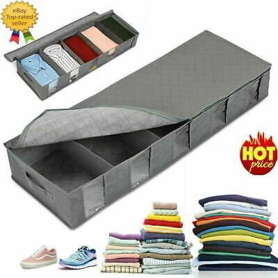 Large Capacity Under Bed Storage Bag Box School 5 Compartments Clothes Organizer • 7.78£