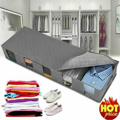 Storage Bag Box 5 Compartments Shoes Clothes Organizer Under Bed Large Capacity • 9.59£