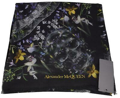 AU267.82 • Buy New Alexander McQueen $495 570942 OPHELIA Floral Skull Wool Modal Scarf