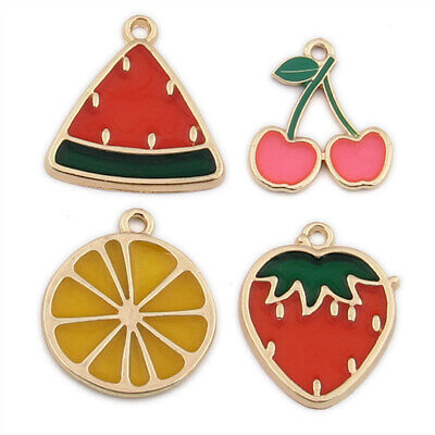 £3.99 • Buy 10pc Cherry Strawberry Watermelon Pendant Charm Earring Necklace Making /1521