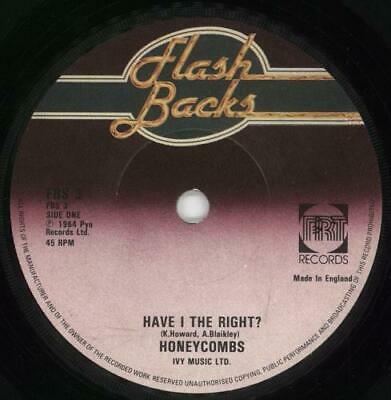 Honeycombs Have I The Right? UK 7  Vinyl Single Record FBS3 PYE 1979 • 10.94£