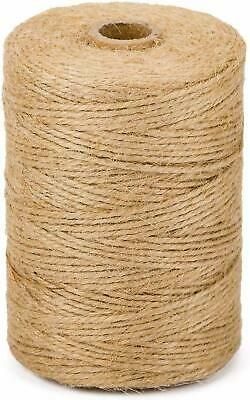 100m 3 Ply Natural Brown Soft Jute Twine Sisal String Rustic Cord Shabby • 5.49£