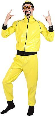 1990S Ali G Yellow Rapper Shell Suit Celebrity Adults Fancy Dress Costume Set • 19.98£